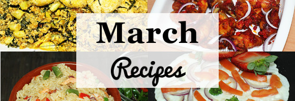 March Recipes