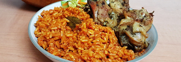 Smoky Jollof Rice without Firewood